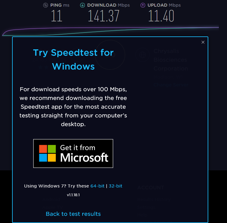 MS Edge Results