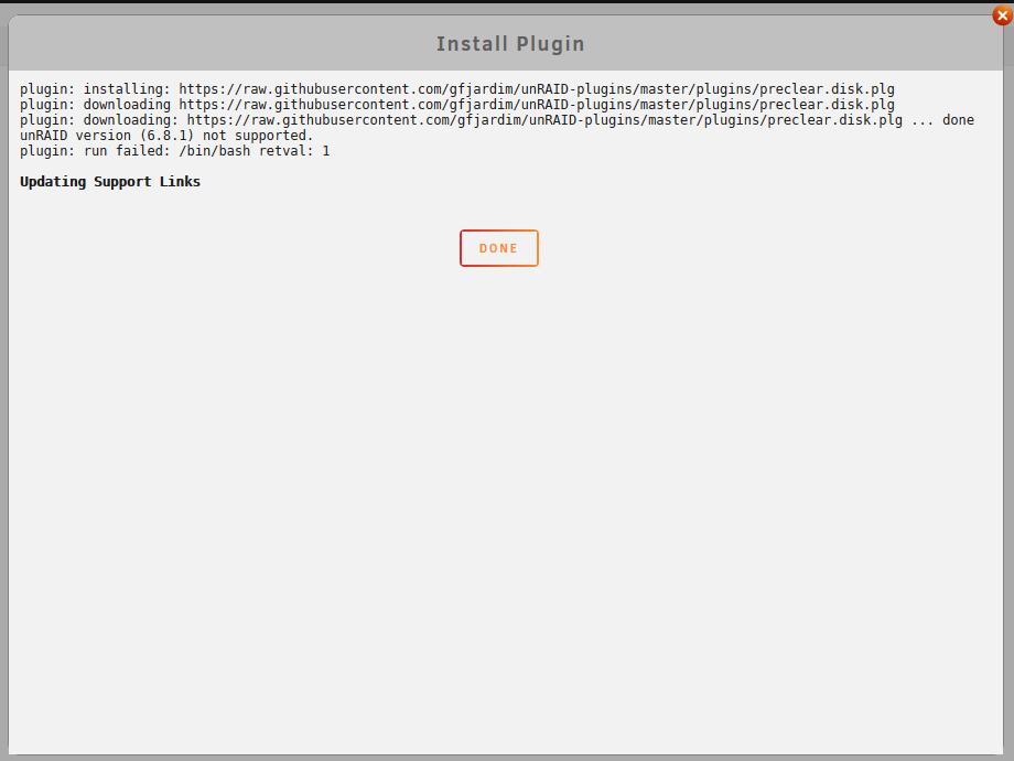 UnRAID preclear error.png