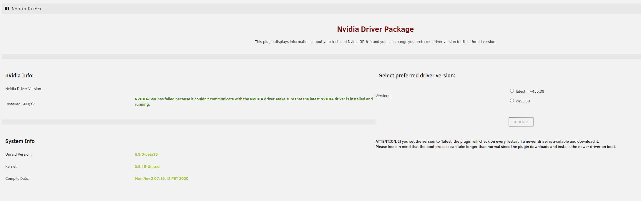 Plugin] Nvidia Driver   Page 20   Plugin Support   Unraid